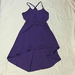 XXi purple high-low racerback flowing dress